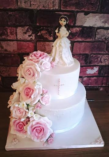 Holy Communion Cake by Katarzyna Koza, Sweet Little Bliss