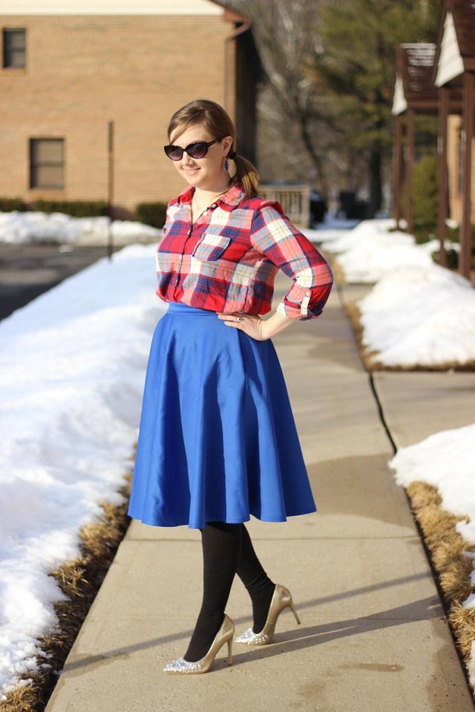 Plaid and midi 6