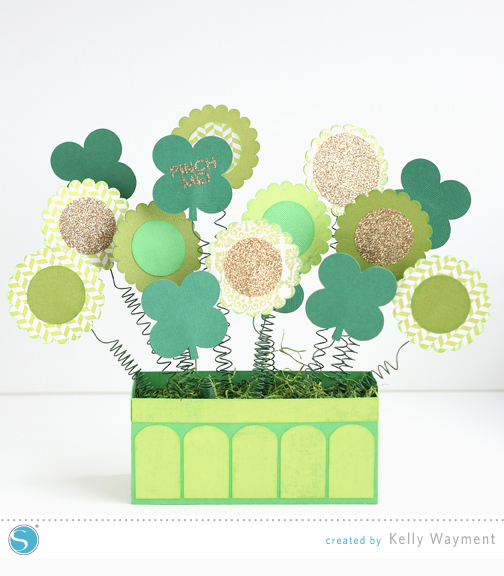 Spring Shamrock Arrangement by Kelly Wayment for Silhouette