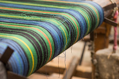 art, weaving, textile, yellow, green, thread, close-up, blue,