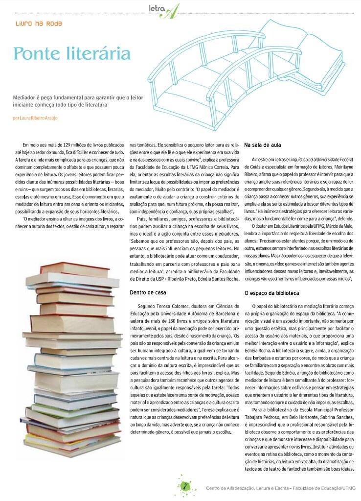 Ponte Literária. Letra A,  p. 7 - 7, 01 mar. 2013.