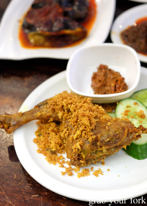 Ayam goreng Indonesian fried chicken at Indo Rasa, Kingsford