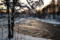 A winter view of Rapid Vantaankoski in River Vantaanjoki (Vantaa, 20120128)