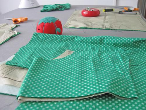 green knit shirt