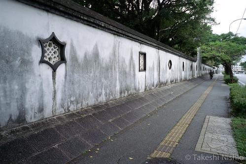福州園の壁 / wall of Fukusyuen garden