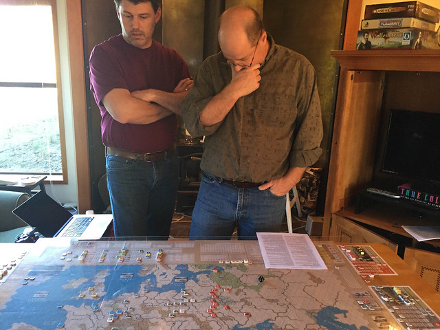 Ken and Jim contemplate start of Allied approach to Supreme Commander