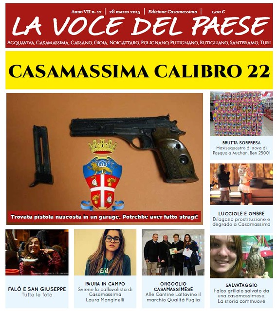 casamassima copertina 27 marzo 2015