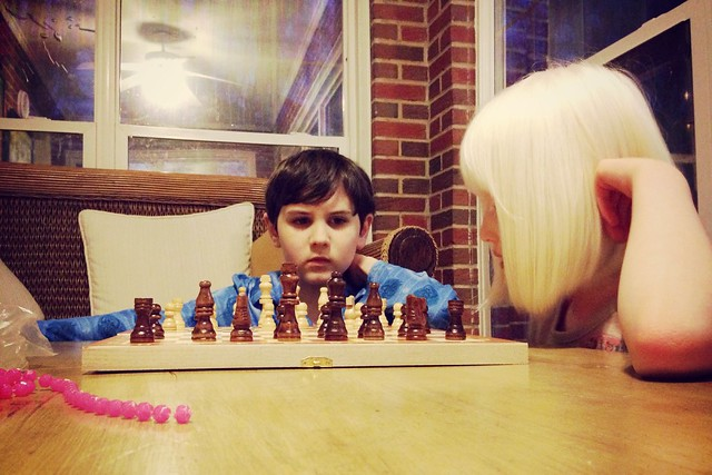 And now he taught Zoe chess