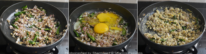 How to make Egg Sevai - Step3