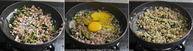 How to make Egg Sevai - Step3