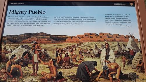 The Pueblo people at Pecos