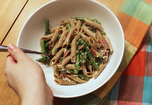 asparagus-pancetta-pasta