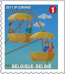 11 LA FOIRE timbree