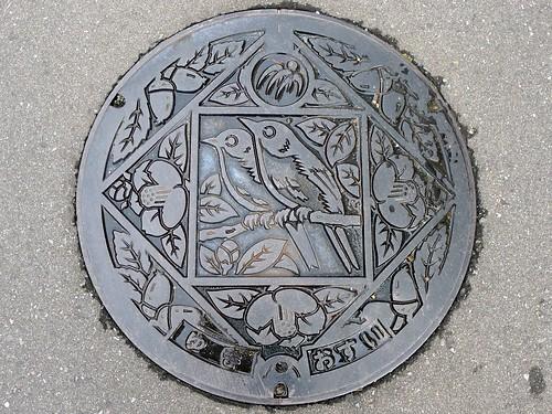 Yuki Tokushima, manhole cover (徳島県由岐町のマンホール)