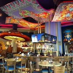 Lunch doesn't get more colorful than Mellow Mushroom. #design #architecture #environmentalgraphics