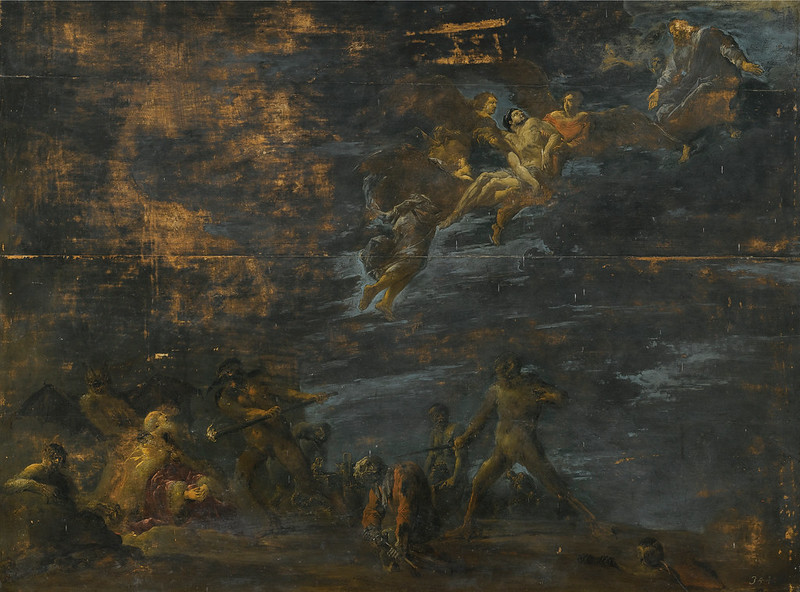 Leonaert Bramer - Dives, tormented by demons in hell, 16th century