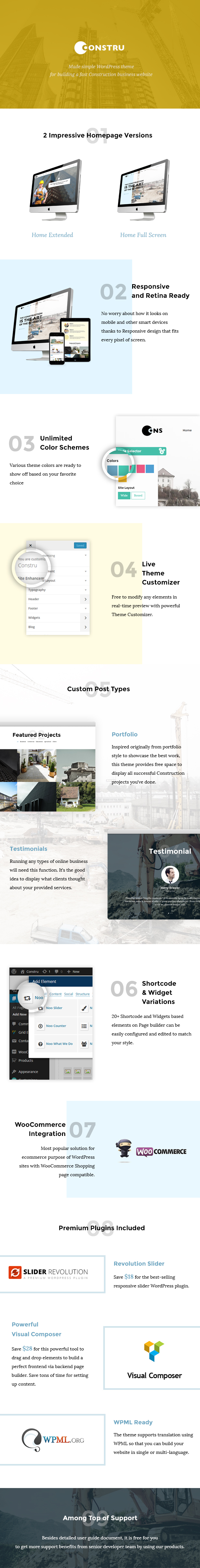 Constru - Construction WordPress Theme