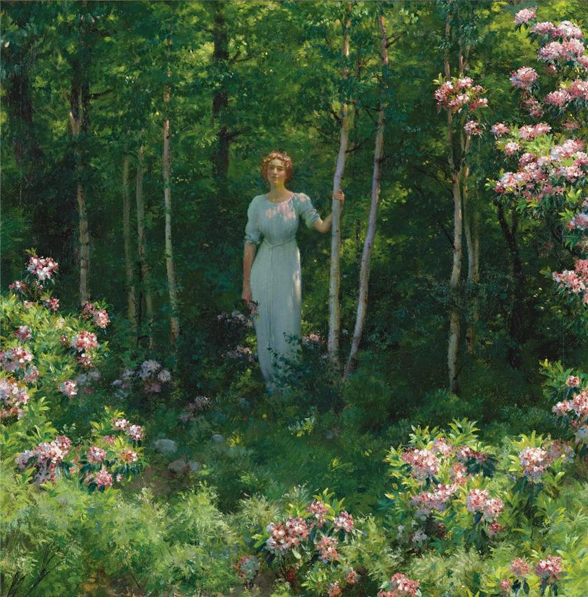The Edge of the Woods by Charles Courtney Curran - 1912