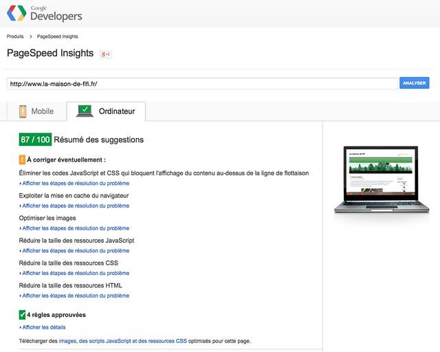 résultats google ordinateur