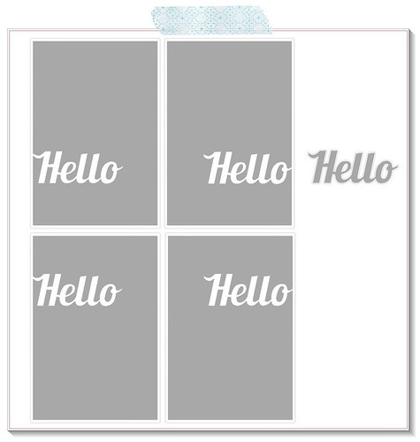 hello card panels - lobster font - free cut files by mel stampz