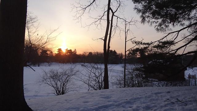 Brookdale Park sunrise in March