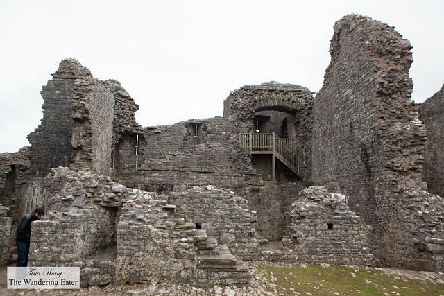 Inside Carreg Cennen Castle