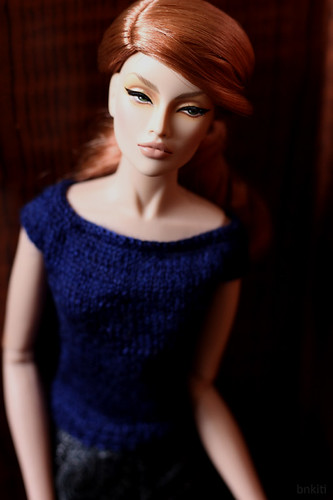 hand knitted sweater for 16inch doll