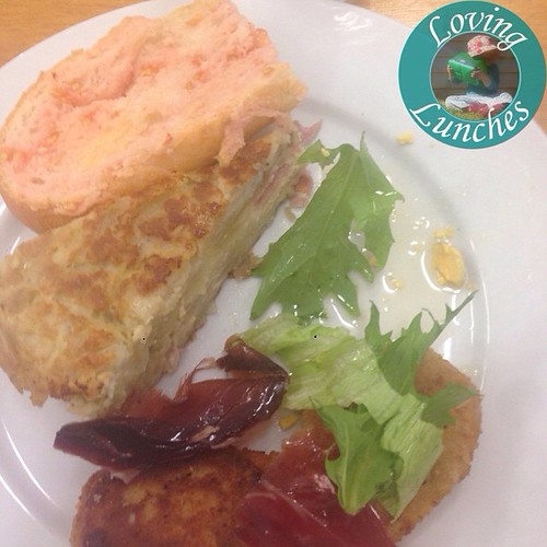 Loving eating half my lunh before remembering to share! Spanish potato tortilla and croquets �� Thanks Emerald Neighbourhood Centre and the MultiCultural Connections group ����������: