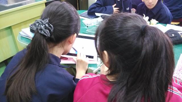 學生用iPad觀察花和果實101