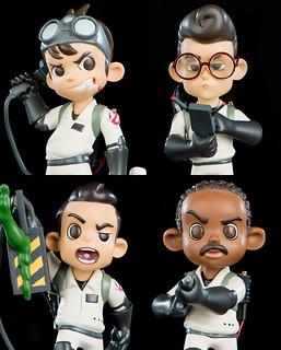 超Q造型全員集合!Q-Pop《魔鬼剋星》卡通人偶雕像