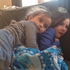 #sister #snuggles during the movie yesterday. #sweetness #latergram