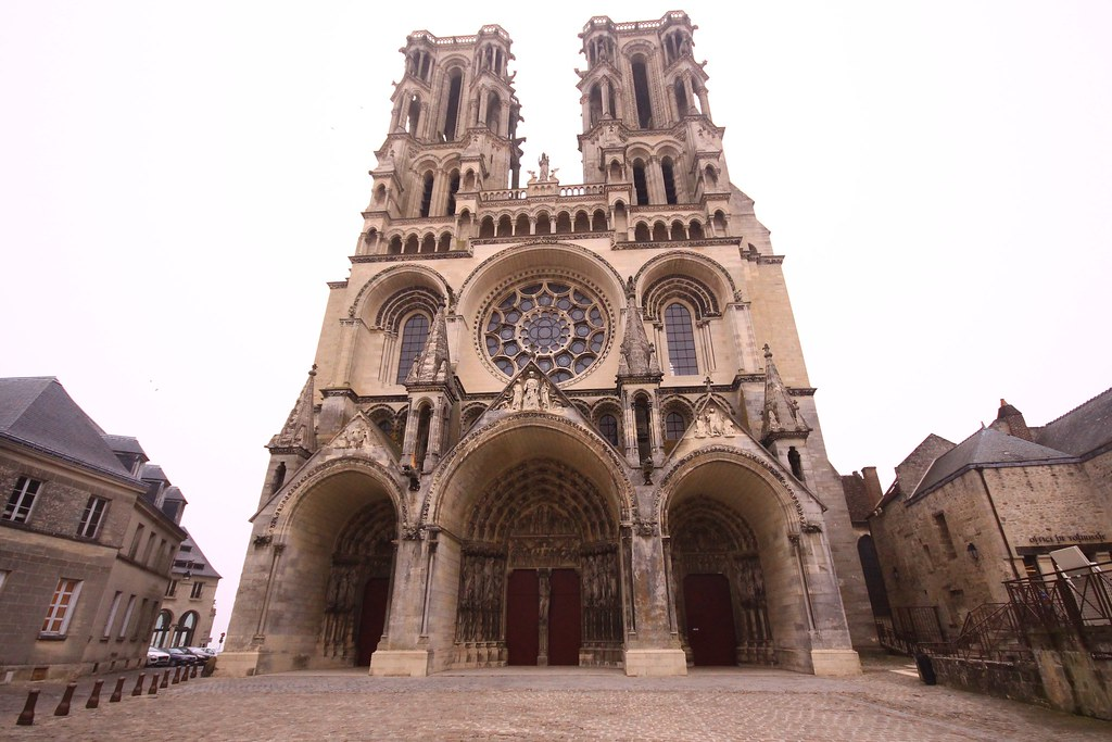 The western front of Laon Cathedral