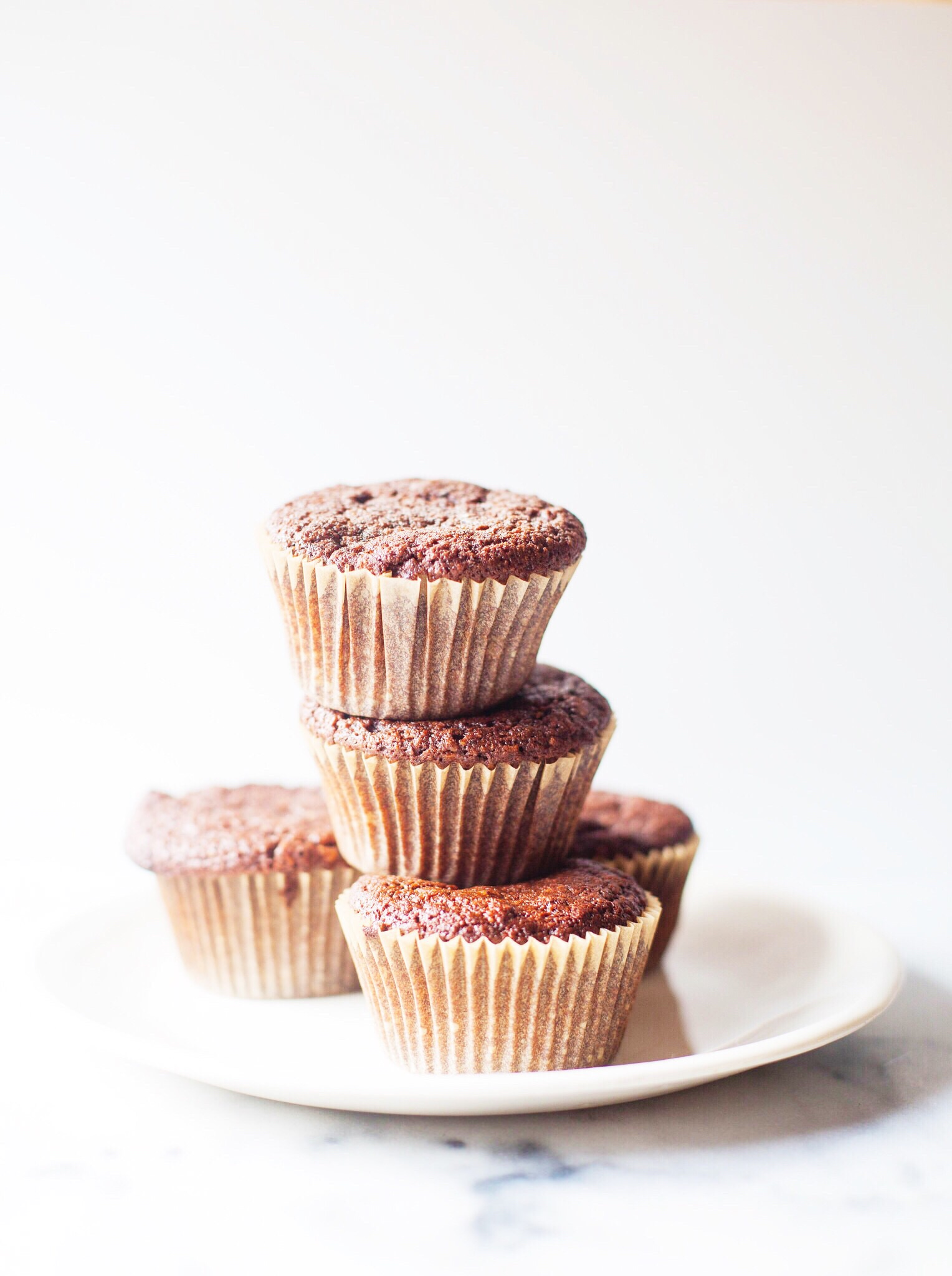 Banana cocoa muffins.
