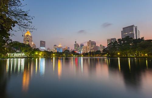 park sunset urban landscape thailand soleil cityscape bangkok coucher parc 1740 thailande lumpini canoneos5dmarkii