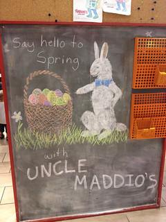 Chalk art at Uncle Maddio's