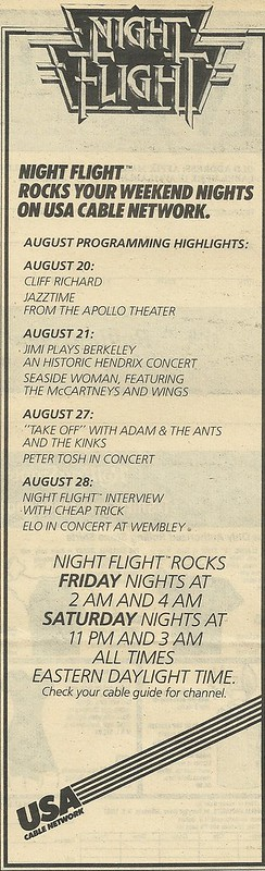 09/02/82 RS (Night Flight on USA - Schedule Ad)