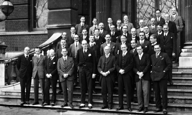 Sir John Reith (front centre) with BBC bigwigs in 1924.