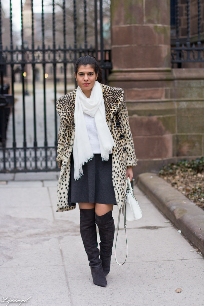 white sweater, grey skirt, over the knee boots.jpg