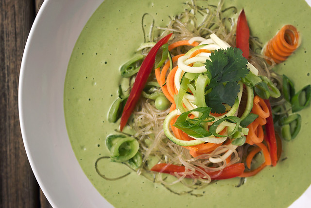 Chilled Green Curry Kelp Noodle Bowls