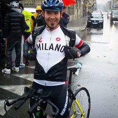 Wasted&Happy after 150km from #Milano to #Torino under a cold rain! Never stop spinning with #cinelli #vigorelli (I think I've finished 7th, maybe, but it's not an issue!!) #fixedgear #fixedforum #150kmsenzasmetteredipedalare #cinellifamily #Redhookcrit #