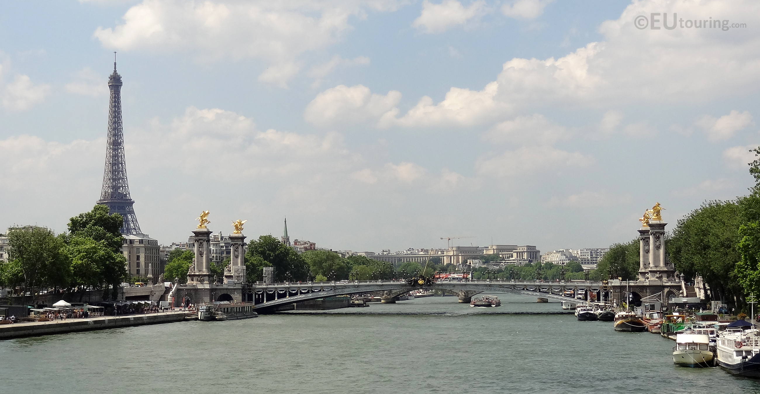 View over the River and city