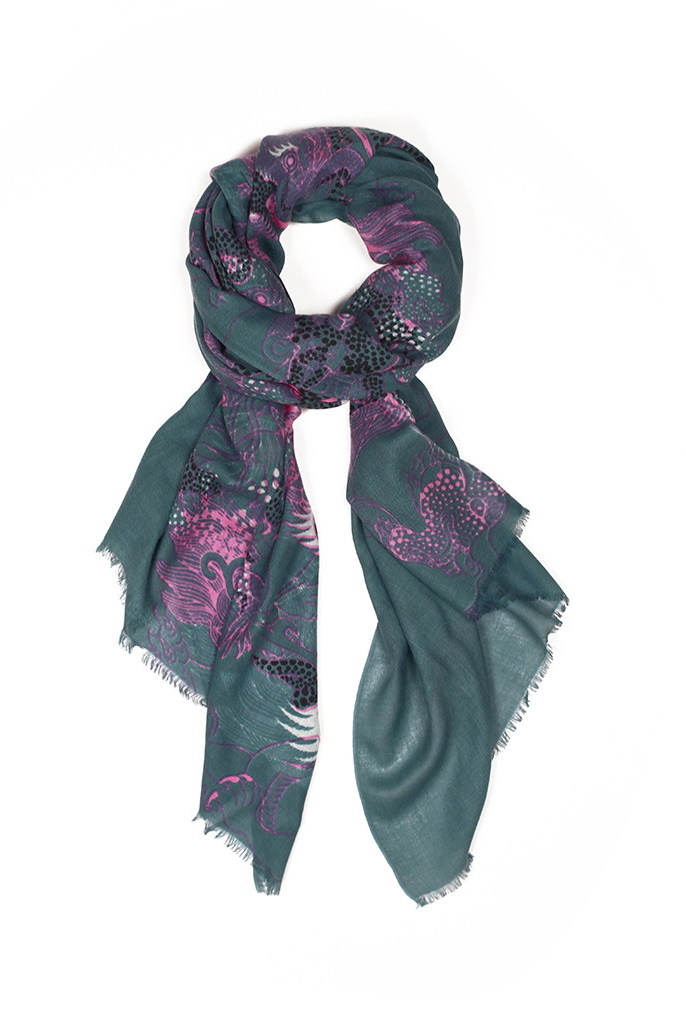 Dragons Cashmere/Silk Scarf
