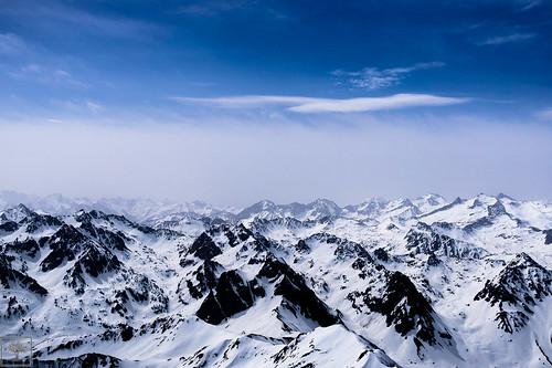 mountain snow montagne pic du neige idi