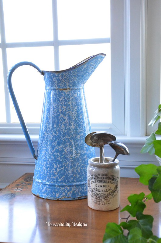 French Enamelware Pitcher/Dundee Marmalade Jar-Housepitalty Designs