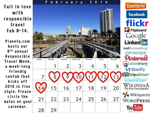 Save the dates! Responsible Travel Week 2016 takes place February 8-14 #rtweek16 #monorail