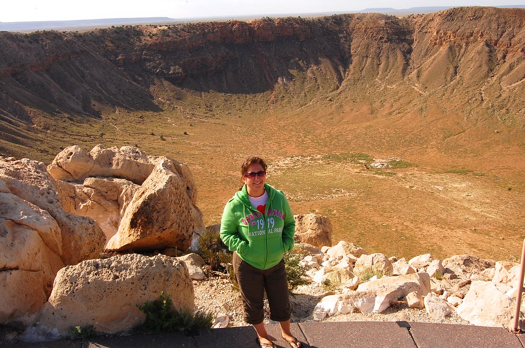 Mandy at the Meteor Crater