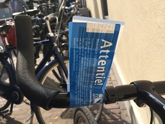 Bike gets tagged for removal within an hour of parking it