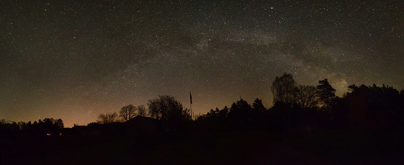 Milky Way above Hohen Woos, Germany