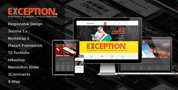 EXCEPTION v1.6 - Responsive Business Joomla Template