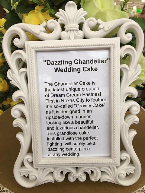 Dazzling Chandelier Wedding Cake by Whelyne Ann Davila of Dream Cream Pastries